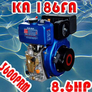 8HP Diesel Engine, KA186F Air-Cooled Single Cylinder