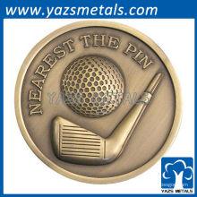 personnalisez les médailles de golf sportives, dites-le à un échantillon de photo