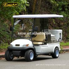 Gros véhicule électrique 48V alimentaire panier 2 sièges hôtel buggy voiture