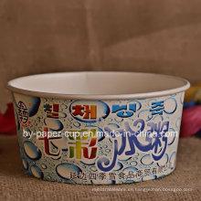 Tazones de papel promocional para helados de buena calidad