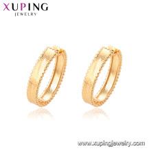 95355 venda quente simples senhoras jóias preço de promoção boa qualidade rodada banhado a ouro brincos de argola