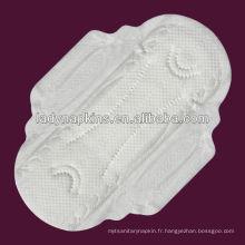 serviettes hygiéniques de jour de douceur de coton perlé pour des femmes