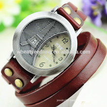 2014 multiple leather eiffel tower vintage watches men luxury brand