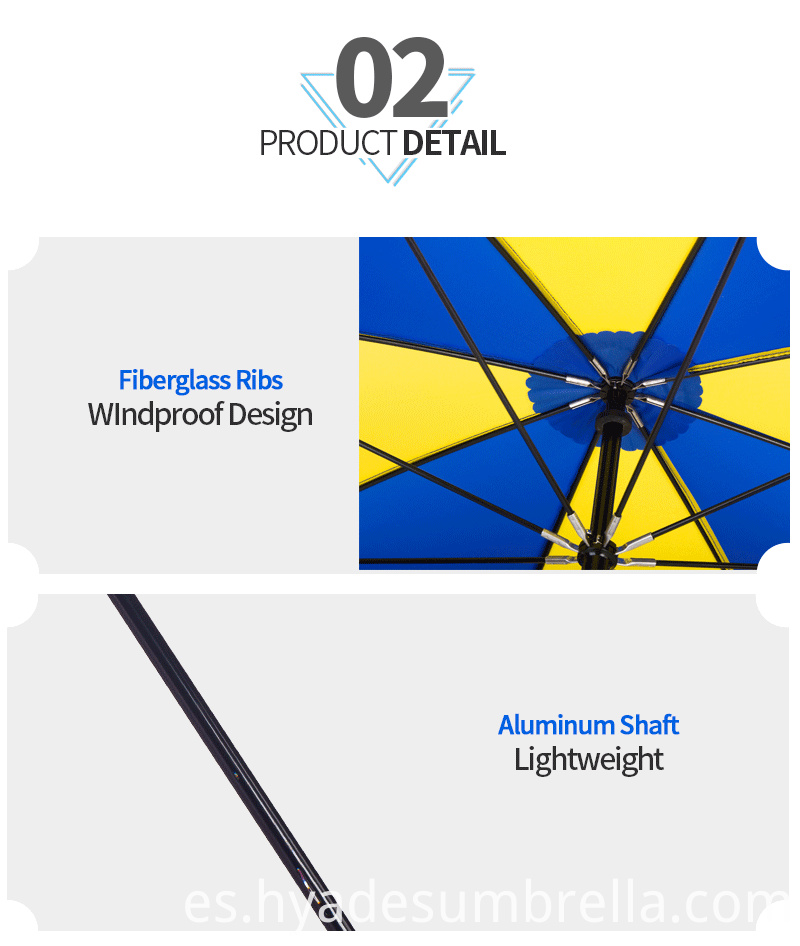 Lightweight Plain Color Manual Open Straight Umbrella