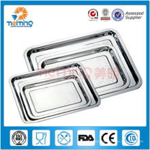 bulk large multy function stainless steel tray