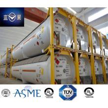 Hohe Qualität 51000L 40FT 22 bar Druck Kohlenstoffstahl LPG Tank Container Genehmigt von ASME U2, GB mit Ventilen