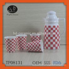 Jarra de té de cerámica blanca y conjunto de caldera, botella de agua, juego de té, material de cerámica y agua Potes y tetera Tipo de vaso Tetera