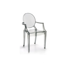 Top for China Plastic Chairs, Plastic Folding Chair, Plastic Dining Chair Manufacturer Design clear transparent plastic arms chair supply to France Wholesale