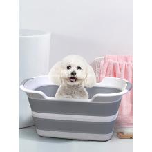 Banheira dobrável multifuncional para animais de estimação banheira para animais de estimação