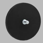 Aimant rond à base de caoutchouc noir