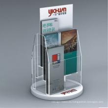Soporte de exhibición del tenedor del folleto de acrílico