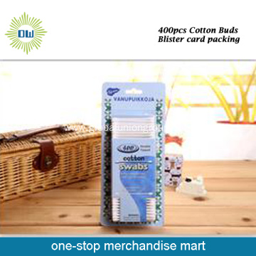 400pcs Plastic Stick Cotton Buds