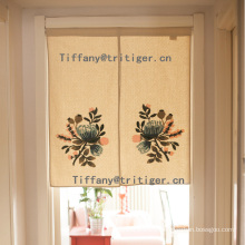 100% Cotton Fabric Printed Lu Embroidery Curtains for door