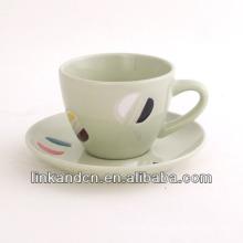 KC-03005new taza de té de lujo con platillo, taza de taza de café de alta calidad