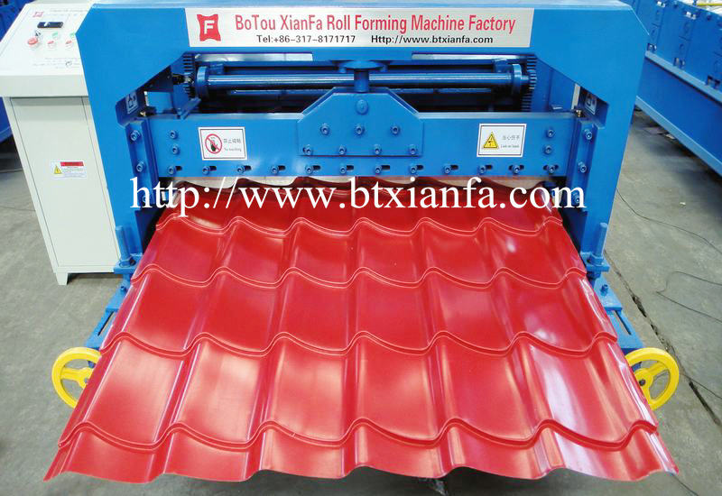 glazed tile roof making machine