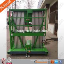 8 m aluminium double mast hydraulic lift vertical platform lift