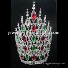 Fille de strass en plastique strass Princesse couronne en gros High Tallant Couronnes et Tiaras