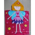 (BC-PB1011) Hot-Sell 100% Cotton Printed Cutely Kids Beach Poncho