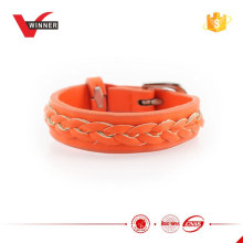 New Arrival PU Braided wrist strap for women