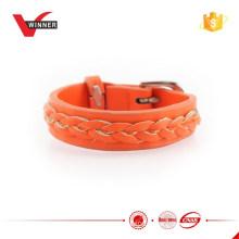 Nova chegada PU trançado pulseira para as mulheres