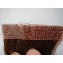 Trame de peau de cheveux brésiliens humains remy naturelle / cheveux de trame de peau de pu