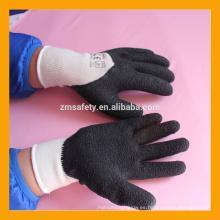 Negro Industrial CE EN388 Guantes de caucho de látex de mano
