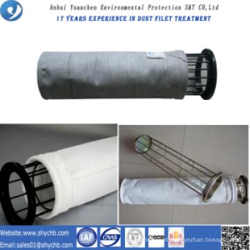 Saco de filtro não tecido do poliéster do coletor de poeira para a planta do asfalto