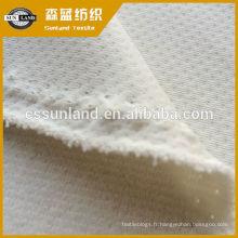 tissu molletonné en polyester brossé