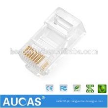 Alta qualidade macho rj45 conector rj45 conector com tampa e shell, tampa de cabo de borracha, tampa de cabo subterrânea, tampa de cabo de parede
