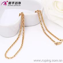 Xuping Moda rosa collar de color oro (42490)