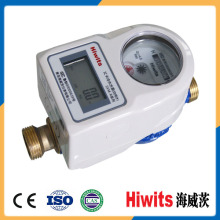 Medidor de agua prepagado elegante de la alta calidad del cuerpo de cobre amarillo con la tarjeta del IC