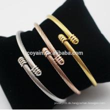 Rose Gold Edelstahl 18k Gold Armreif Armband Saudi Arabien Schmuck
