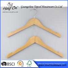 Cabide de madeira de vestuário para roupas