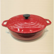 LFGB FDA Ce Approved Cast Iron Casserole China Factory Size 30X9cm