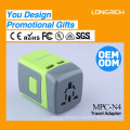 Multi-popuse universal travel adapter with Dual USB charger