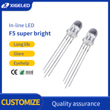 F5 super bright colorful in-line LED lamp beads