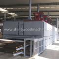 Equipamento de secagem de folheado de madeira de cinzas