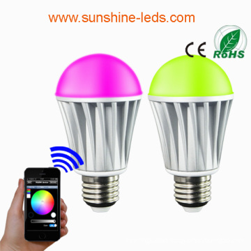 Bluetooth/WiFi RGBW 7W E27 LED Bulb
