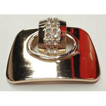 Gold Tone Metal Shoe Buckle for Lady's Shoes