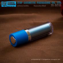 ZB-RC série 10ml 15ml de petite taille doubles couches belles et élégantes tout en plastique rond mini flacon airless rotatif