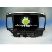Factory directly !10.1inch Full touch with 1024*600. android 4.4 car dvd player for lancer +OEM+Qual core !