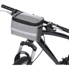 New Cooler Bag with Touch Screen Phone Holder Bike Front Basket Thermal Insulation Cooler bag Bicycle Handlebar Bag