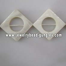 new fashion square shape fresh water shell beads
