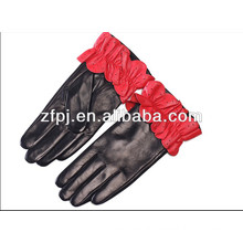 ladies winter plain style fashion colorful cute sheepskin gloves