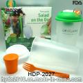 Taza de la coctelera de ensalada de alta calidad con el apósito (HDP-2027)