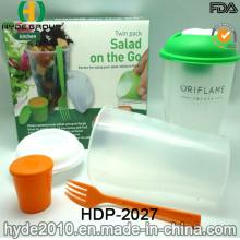 Salad Shaker Cup avec récipient à vinaigrette de haute qualité (HDP-2027)