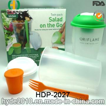 Copo de alta qualidade salada shaker com recipiente de limpeza (HDP-2027)