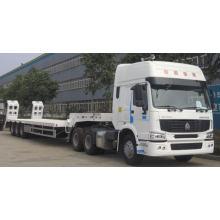 Camión de remolque con plataforma baja de 60 toneladas y 3 ejes