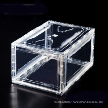 Large Clear Magnetic Stackable Drop Front Shoe Box
