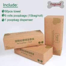 Sacos Waste do animal de estimação do cão Poopbag com grupo do tombadilho da eliminação do distribuidor